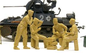 ドイツ戦車兵・スカートプレイヤー レイアウトの確認