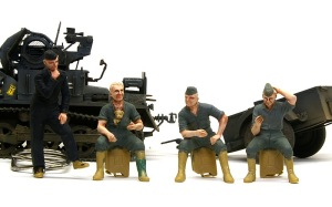 ドイツ戦車兵・スカートプレイヤー 塗装開始