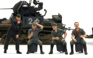 ドイツ戦車兵・スカートプレイヤー 塗装年上げ