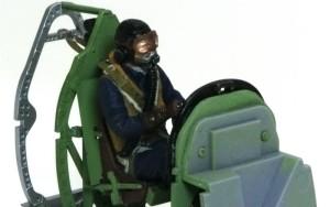 スピットファイアMk.9c パイロットフィギュアの塗装