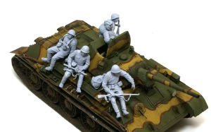 ソビエト歩兵・戦車搭乗セット サフ吹き