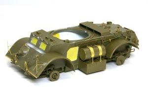スタッグハウンドMk.1 車体部分の組み立て完了
