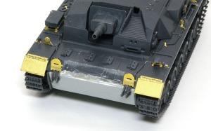 3号突撃砲B型 ヒートペンで溶接痕の追加