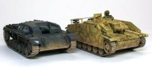3号突撃砲B型とG型