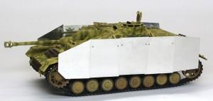 4号突撃砲 シュルツェンの組立て
