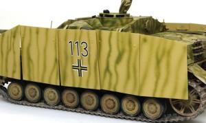 4号突撃砲 デカール貼り
