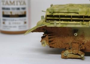 4号突撃砲 車体下部の汚し