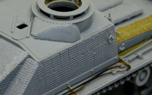10.5cm突撃榴弾砲G型 跳弾板の溶接痕