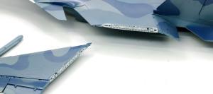 主翼断面の塗装