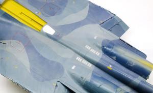 機体の退色表現