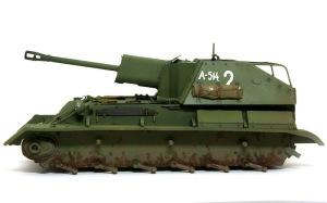 SU-76M自走砲 ピグメントで泥汚れ