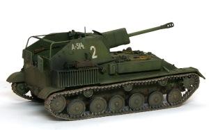 SU-76M自走砲 履帯の汚しと取り付け