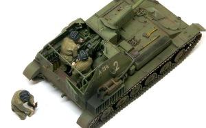 SU-76M自走砲 フィギュアを乗せてみた