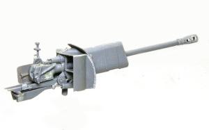 SU-76M自走砲 主砲の組み立て完了