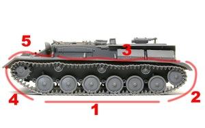 SU-76M自走砲 履帯の組み立て