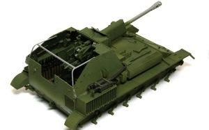 SU-76M自走砲 ヒートペンの溶接痕でごまかす