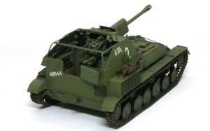 SU-76M自走砲 細部の塗分け