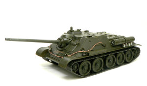 ソビエト・SU-85襲撃砲戦車 組立て完了