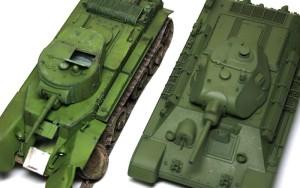 BT-7 と T-34/76 の色味を比較