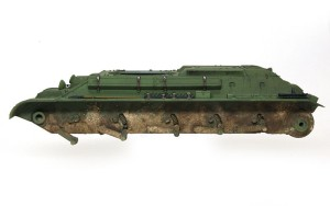 T-34/76 1940年型 ピグメントで車体の汚し