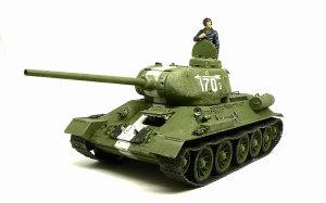 T-34/85 1944年型 ウオッシングとドライブラシ
