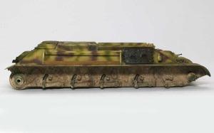 ドイツ・T-34対空戦車 車体下部の汚し