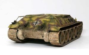 ドイツ・T-34対空戦車 履帯の取り付け