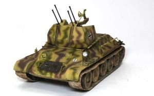 ドイツ・T-34対空戦車 機関砲の取り付け