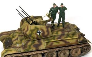 ドイツ・T-34対空戦車 フィギュアを乗せてみた