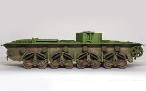 ソビエト重戦車・T-35 足まわりの汚し