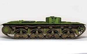 ソビエト重戦車・T-35 履帯の取り付け
