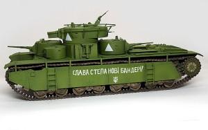 ソビエト重戦車・T-35 サイドスカートの取り付けとデカール貼り
