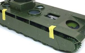 ソビエト重戦車・T-35 サイドスカートで見えなくなる部分はスルー
