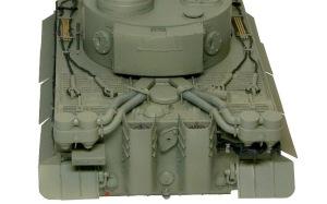 タイガー1極初期生産型 車体後部の塗分け