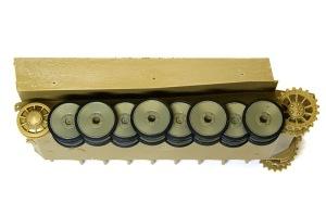 タイガー1極初期生産型 転輪の塗装