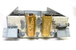 ティーガー1後期生産型 車体後部のコーティング
