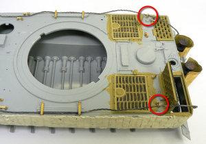 ティーガー1後期生産型 ヴィットマン特有の牽引ワイヤーの引き回し