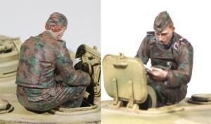 ドイツ戦車兵の塗装