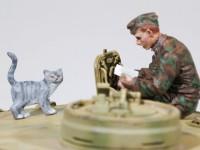 ドイツ戦車兵と猫