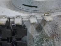 予備履帯ラックのハンドルの補修