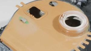 装甲板の暑さの修正と溶接痕の付け直し
