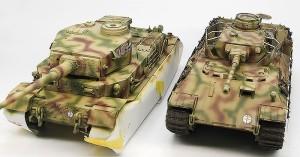 同じ部隊の4号戦車砲塔搭載型ベルゲパンターと並べてみた