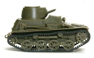 九四式軽装甲車[TK] 履帯は無理やり接着して弛みを再現