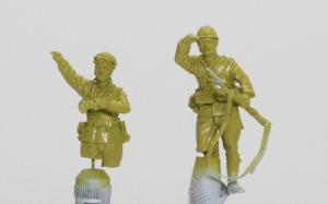 94式軽装甲車戦車兵&歩兵セット サフ吹き、下塗り