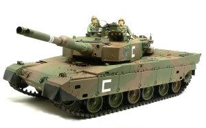 陸上自衛隊・90式戦車 細部の塗分け