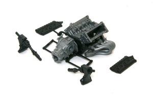 タイレルP34 エンジンとトランスミッションの仮り組み