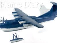 機体上面の塗装