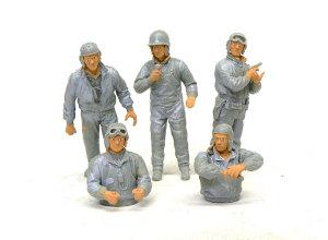 アメリカ・戦車兵 顔、手の下塗り