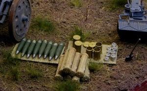 重野戦榴弾砲 小物の塗装