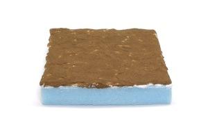 スタイロフォーム、紙粘土、土職人で地面を作る